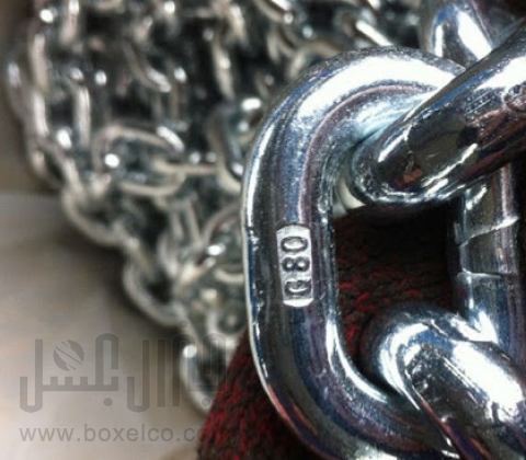 زنجیر بار فولادی گالوانیزه G80